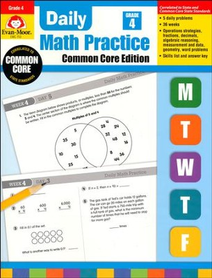 Daily Math Practice, Common Core Edition, Grade 4 Edition  -
