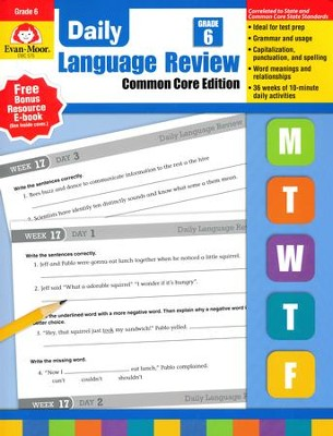Daily Language Review, Grade 6 (2015 Revised Edition)   -