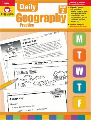 Daily Geography Practice, Grade 2   -
