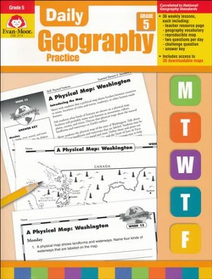 Daily Geography Practice, Grade 5   -