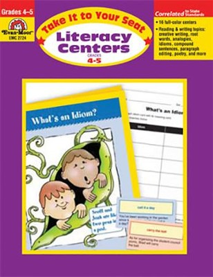 Literacy Centers: Take It to Your Seat, Grades 4-5   -