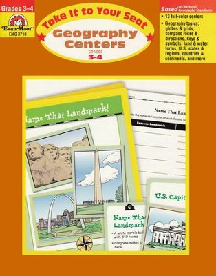 Take It to Your Seat: Geography Centers, Grade 3-4   -