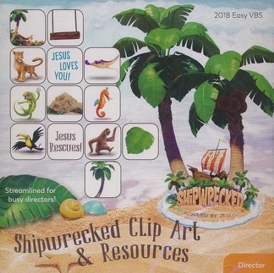 Shipwrecked: Clip Art & Resources CD  -