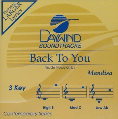 Back To You, Accompaniment CD   -     By: Mandisa