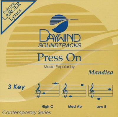 Press On, Accompaniment Track  -     By: Mandisa