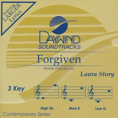 Forgiven, Accompaniment Track  -     By: Lauren Story