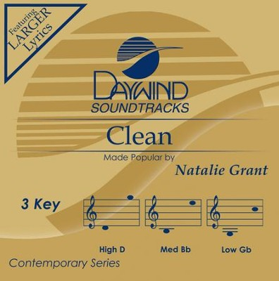 Clean, Accompaniment CD   -     By: Natalie Grant