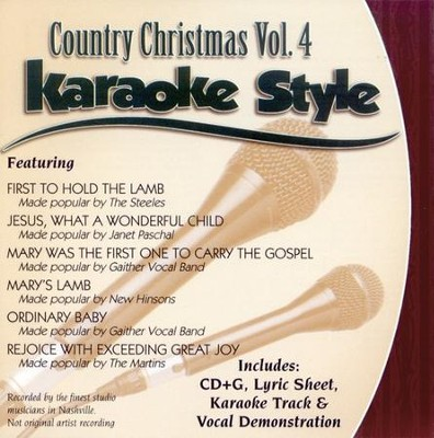 Country Christmas, Volume 4, Karaoke Style CD   -