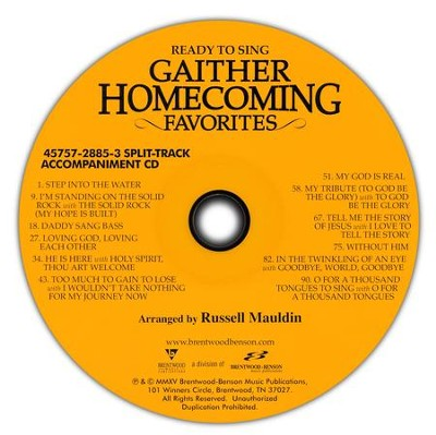 Ready to Sing: Gaither Homecoming Favorites, Split-Track Accompaniment  -     By: Russell Mauldin