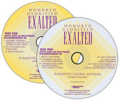 Honored, Glorified, Exalted (Split-Track Accompaniment CD)    -     By: Jay Rouse