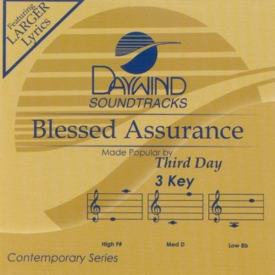 Blessed Assurance, Accompaniment CD   -     By: Third Day