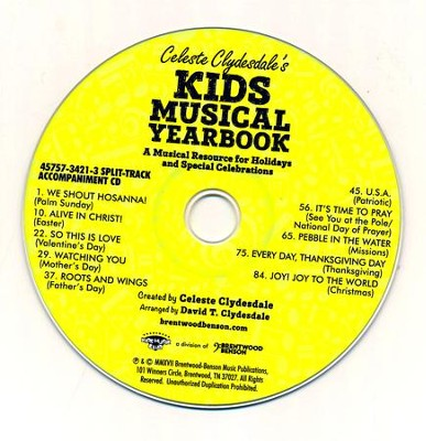 Kid's Musical Yearbook, Split-Track Accompaniment - By: Celeste Clydesdale, David T