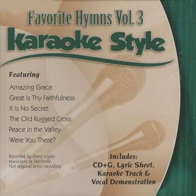Favorite Hymns, Vol. 3, Karaoke CD   -