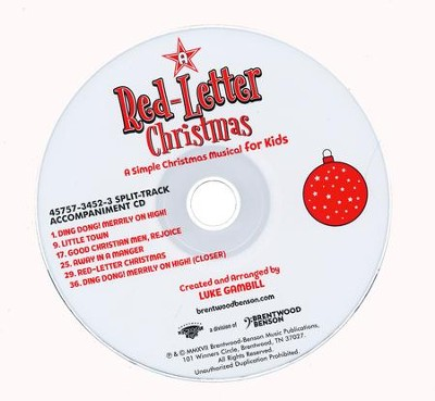 A Red-Letter Christmas: A Simple Christmas Musical for Kids (Split-Track Accompaniment)  -     By: Luke Gambill