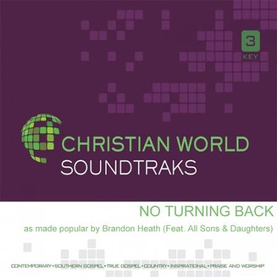 No Turning Back, Accompaniment CD   -     By: Brandon Heath