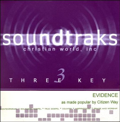 Evidence, Accompaniment CD   -     By: Citizen Way