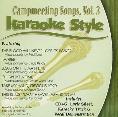Campmeeting Songs Volume 3, Karaoke Style CD   -     By: Various Artists
