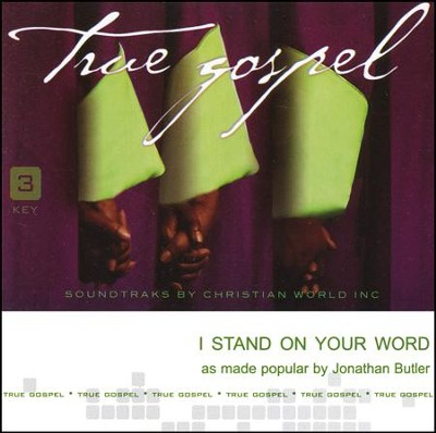 I Stand On Your Word Accompaniment CD  -     By: Jonathan Butler