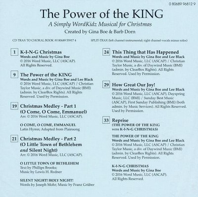 the power of the king a simply wordkidz musical for christmas split track
