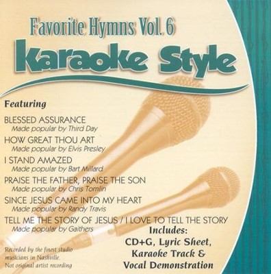 Favorite Hymns, Volume 6, Karaoke Style CD   -