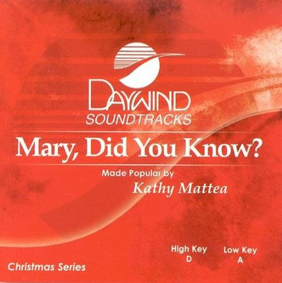 Lyrics To Mary Did You Know