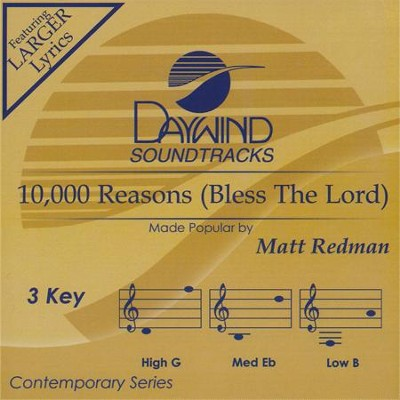 10,000 Reasons (Bless the Lord), Accompaniment CD   -     By: Matt Redman