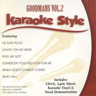 The Goodmans, Volume 2, Karaoke Style CD   -