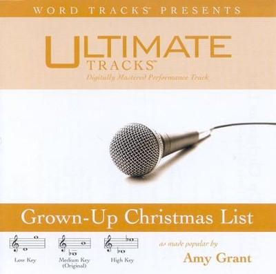 grown up christmas list accompaniment cd by amy grant - Amy Grant Grown Up Christmas List