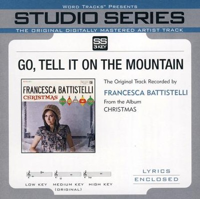 Go Tell It On the Mountain Accompaniment, CD  -     By: Francesca Battistelli