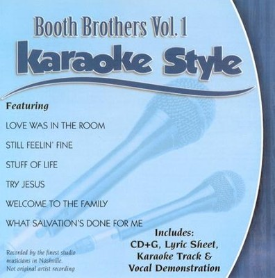 Booth Brothers, Volume 1, Karaoke Style CD   -