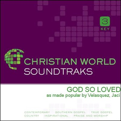 God So Loved   [Music Download] -     By: Jaci Velasquez