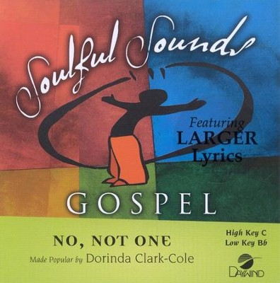 No Not One, Accompaniment CD    -     By: Dorinda Clark-Cole