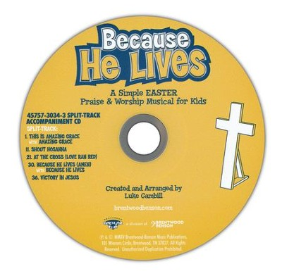 Because He Lives, Split-Track, Acc CD   -     By: Luke Gambill