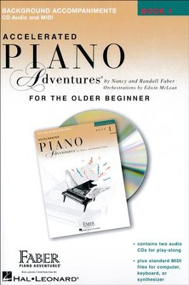 Accelerated Piano Adventures for the Older Beginner: Lesson 1, 2 CD Set  -     By: Nancy Faber, Randall Faber
