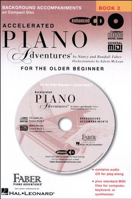 Accelerated Piano Adventures For the Older Beginner: Lesson Book 2 CD  -     By: Nancy Faber, Randall Faber