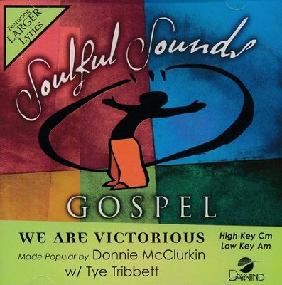We Are Victorious, Acc CD   -     By: Donnie McClurkin