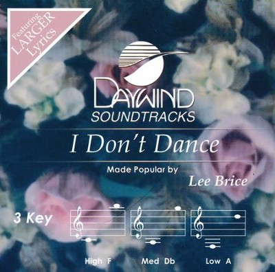 I Don't Dance, Acc CD   -     By: Lee Brice