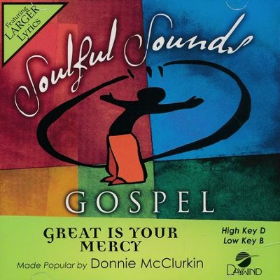 Great Is Your Mercy, Acc CD   -     By: Donnie McClurkin