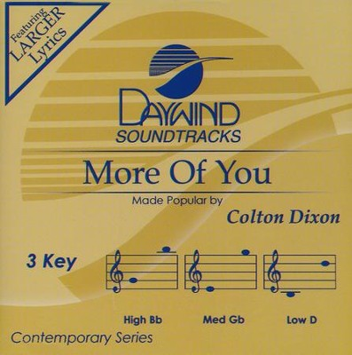More Of You, Acc CD   -     By: Colton Dixon
