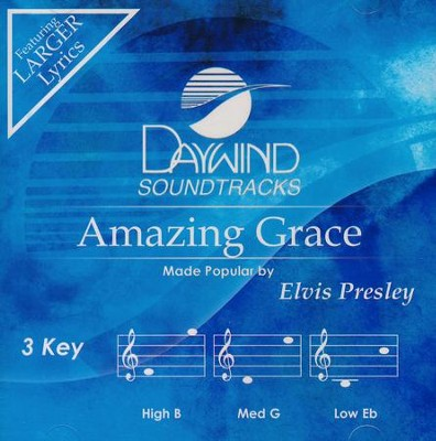 Amazing Grace, Acc CD   -     By: Elvis Presley