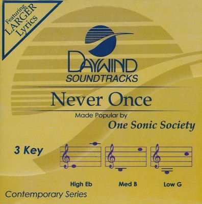 Never Once, Acc CD   -     By: One Sonic Society