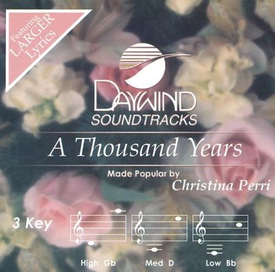 Thousand Years, Acc CD   -     By: Christina Perri