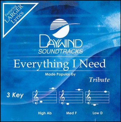 Everything I Need, Acc CD   -     By: Tribute Quartet