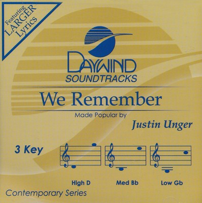 We Remember, Acc CD   -     By: Justin Unger