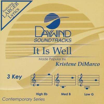 It Is Well, Accompaniment CD   -     By: Kristene DiMarco