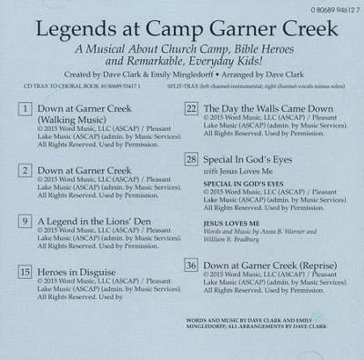 Legends at Camp Garner Creek (Split-Track Accompaniment)  -     By: Dave Clark, Emily Mingledorff