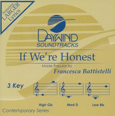 If We're Honest, Acc CD   -     By: Francesca Battistelli