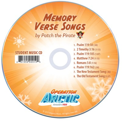 Operation Arctic VBS: Traditional Memory Verse Songs Student CD (pack of 10)   -