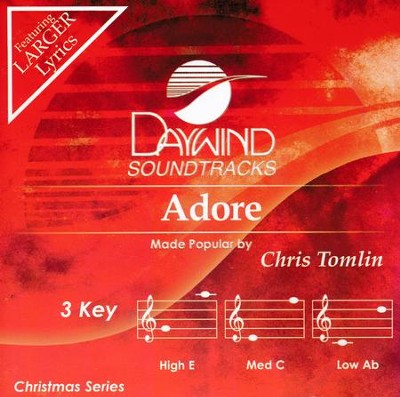 Adore, Accompaniment CD   -     By: Chris Tomlin