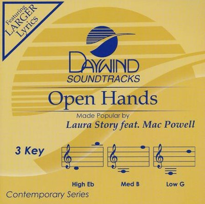 Open Hands, Accompaniment CD   -     By: Laura Story